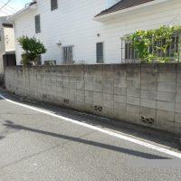 リフォーム前の塀の写真